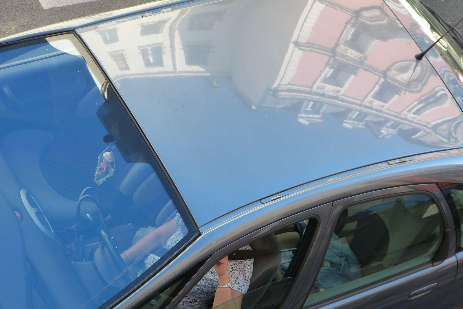 reflets sur voitures
