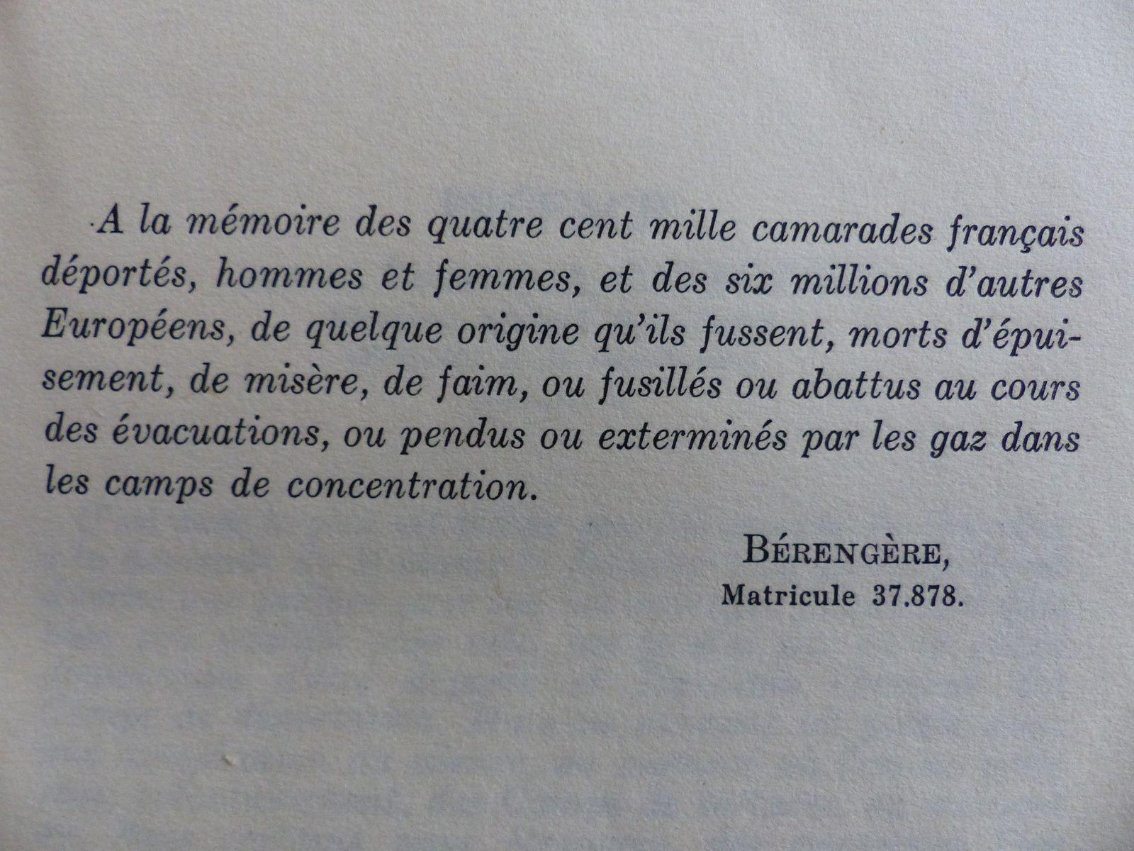 Grand mère de mes 2 filles ainées, résistante courageuse ,qui vécut en déportation avec E.Tillon,G.De Gaulle,et une quarantaine d'autres femmes célèbres ou non, qui toutes survécurent grâce à elle ,; médecin de l'impossible et  qui écrivit cet ouvrage à compte d'auteur, pour témoigner(dont ici les premières pages )....Moi , je n'ai pas oublié, ni tes petites filles.JFVC.