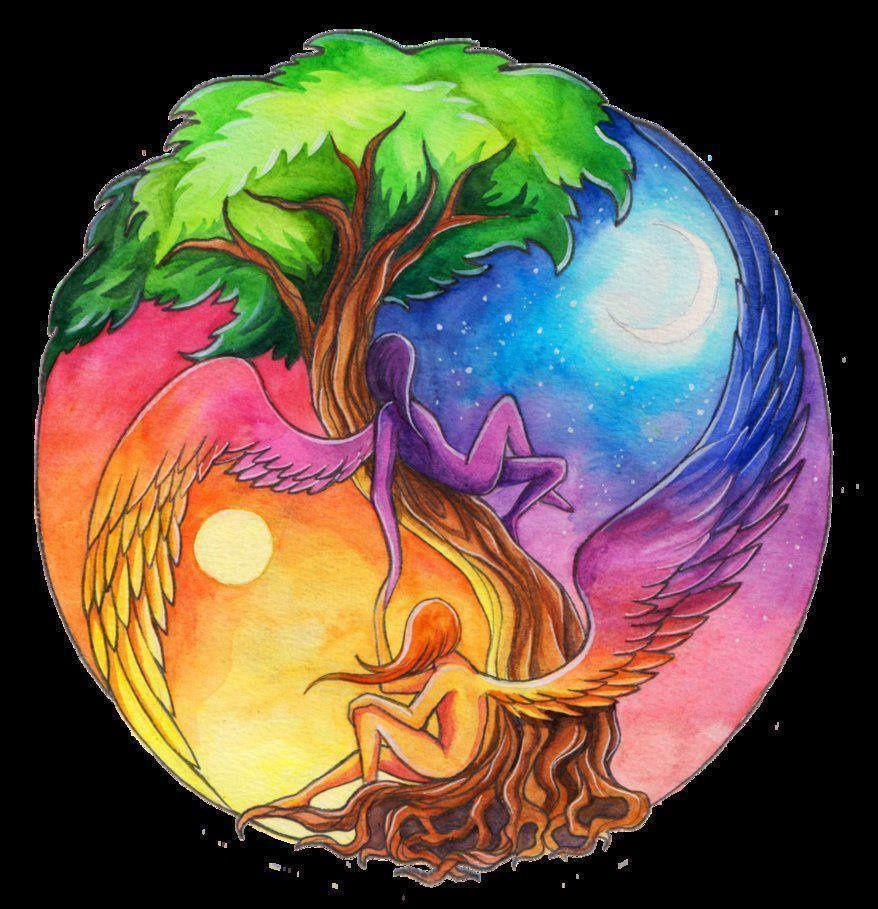 Le soleil et la Lune.