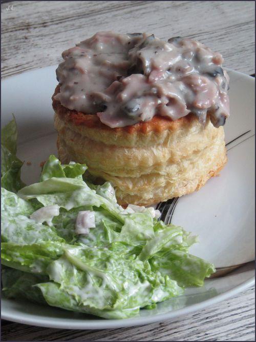 Feuilletés jambon champignons