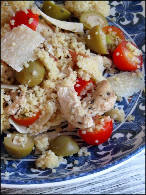 Taboulé poulet olives