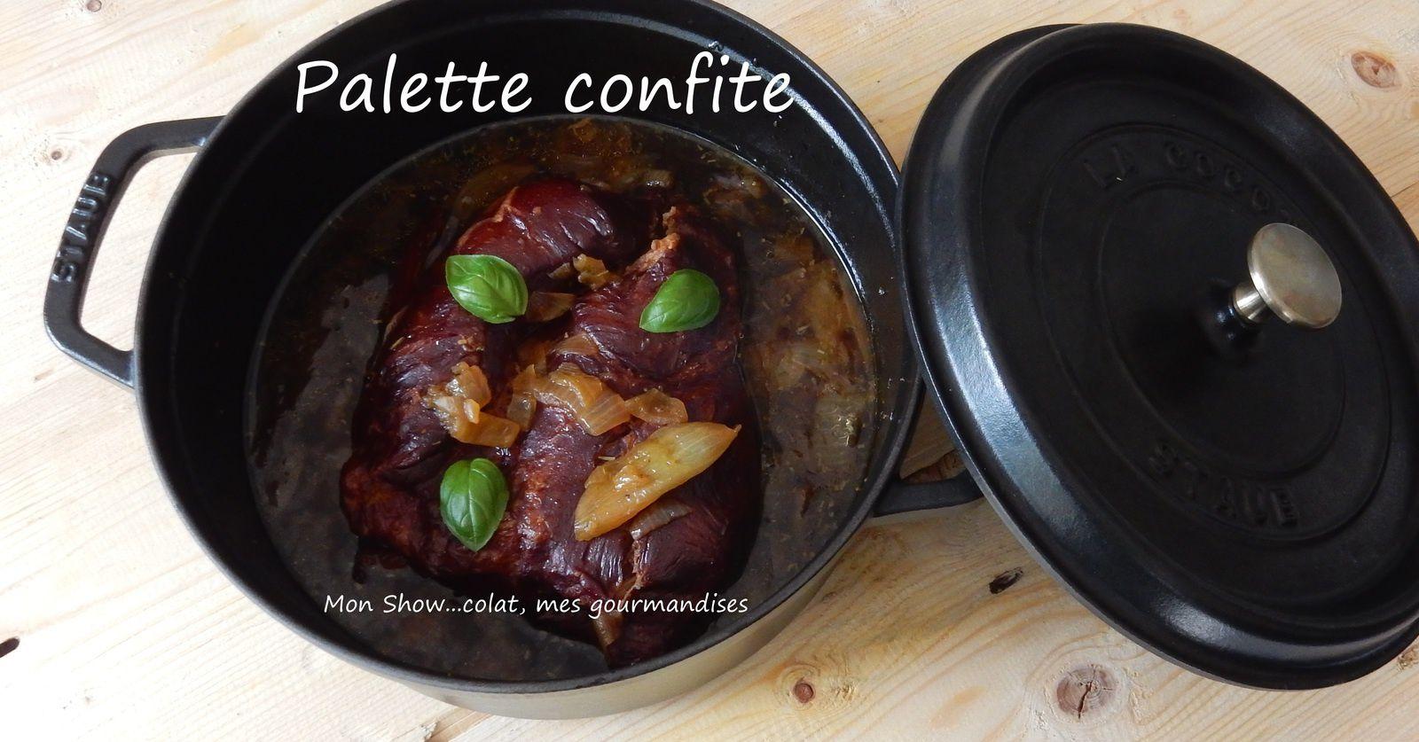 Palette de Porc Confite au four (en cocotte)