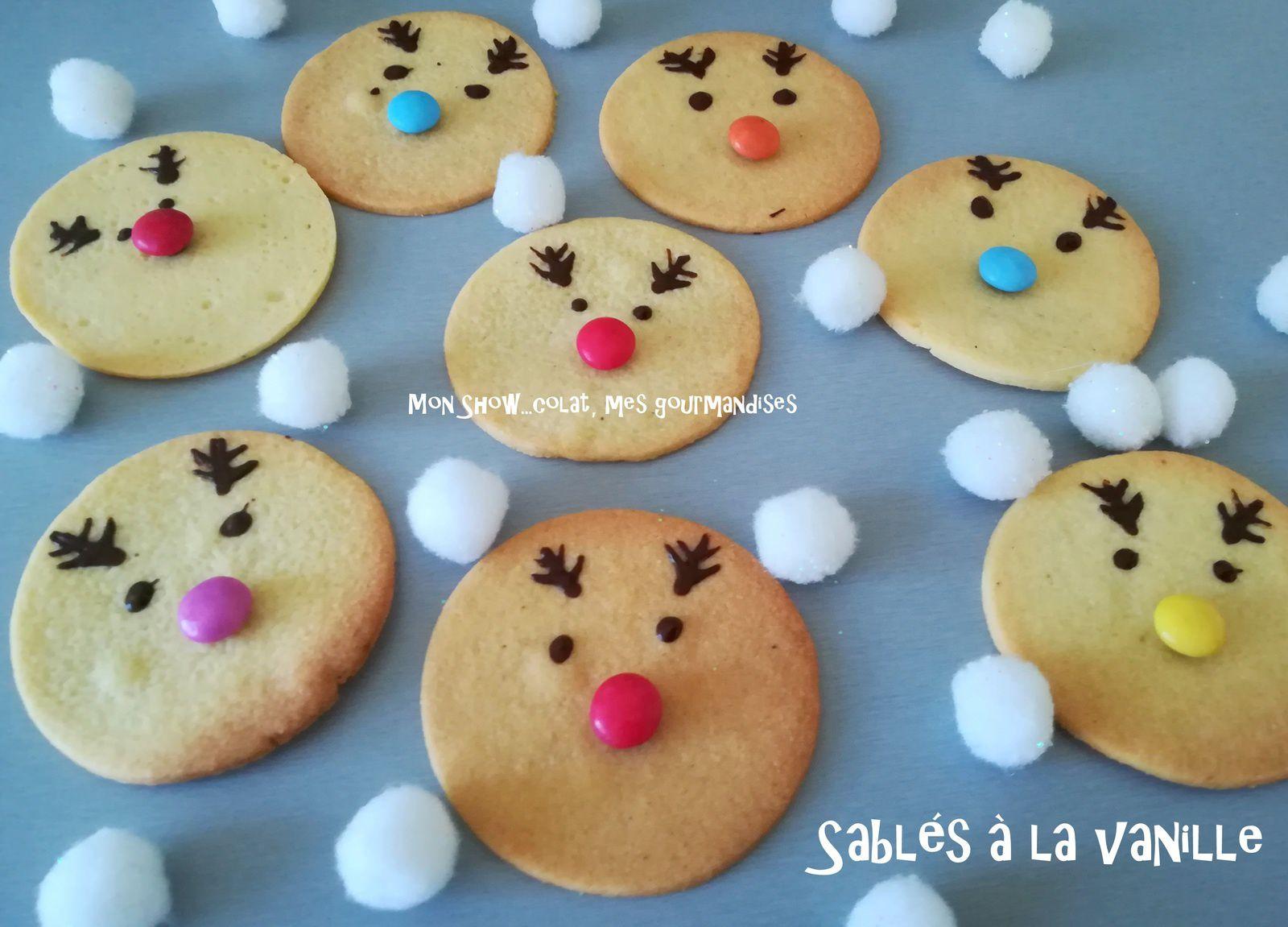 Sablés Rennes de Noël à la Vanille