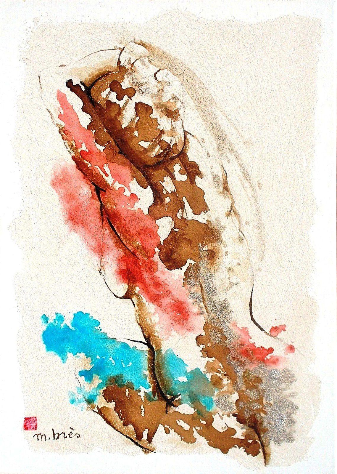 CACHE-CACHE Encres et technique mixte sur toile 50 x 70 cm