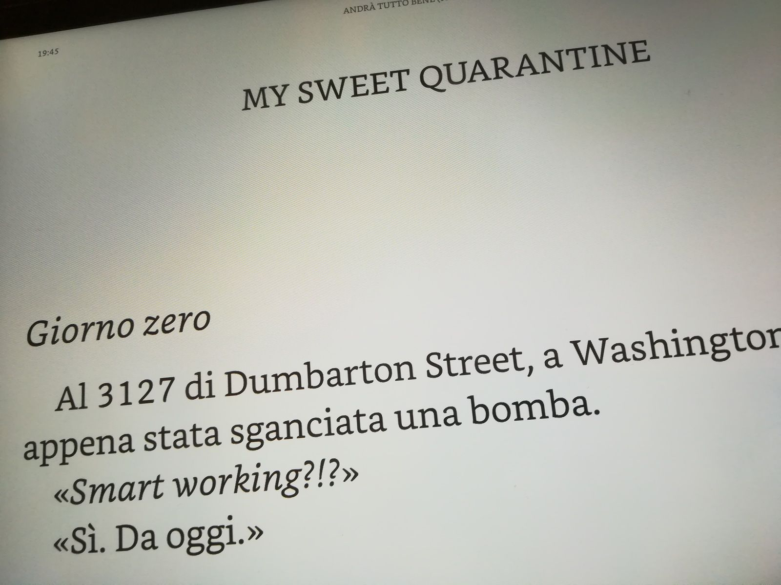 My sweet quarantine