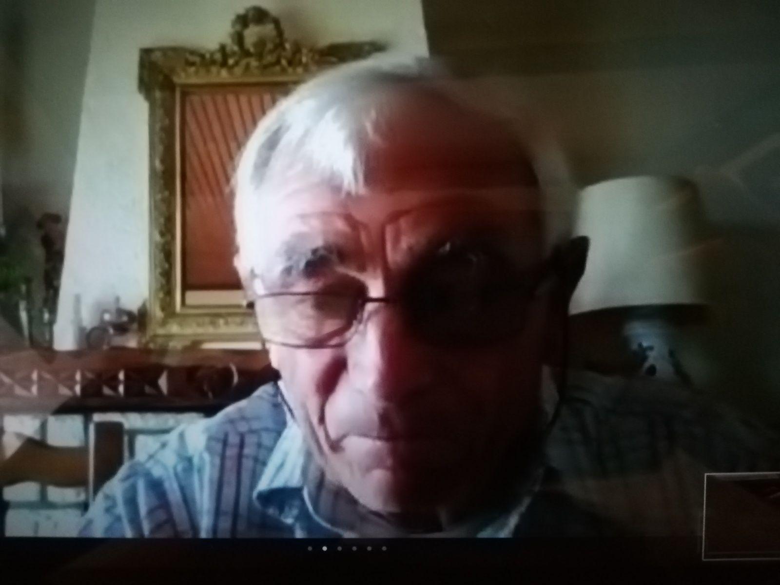 L'écrivain Jean-Paul Froustey sur mon écran.
