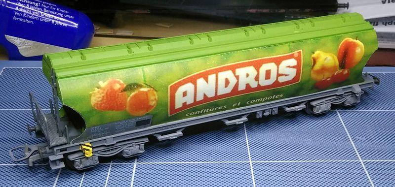 Wagon sucrier Andros vert