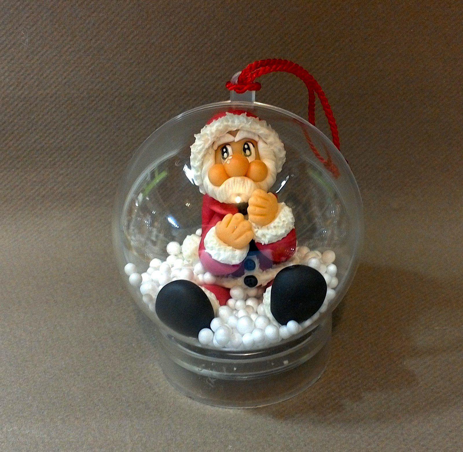 Boule de Noël avec Père Noël