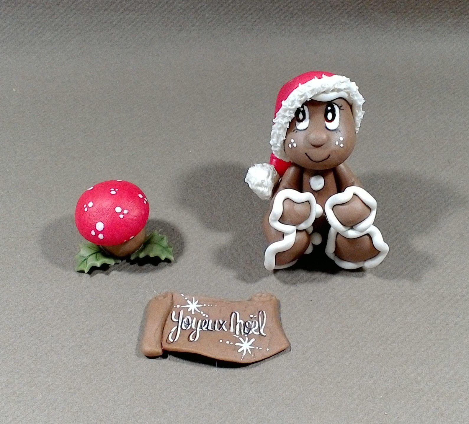 Décor pour gâteau figurines de Noël