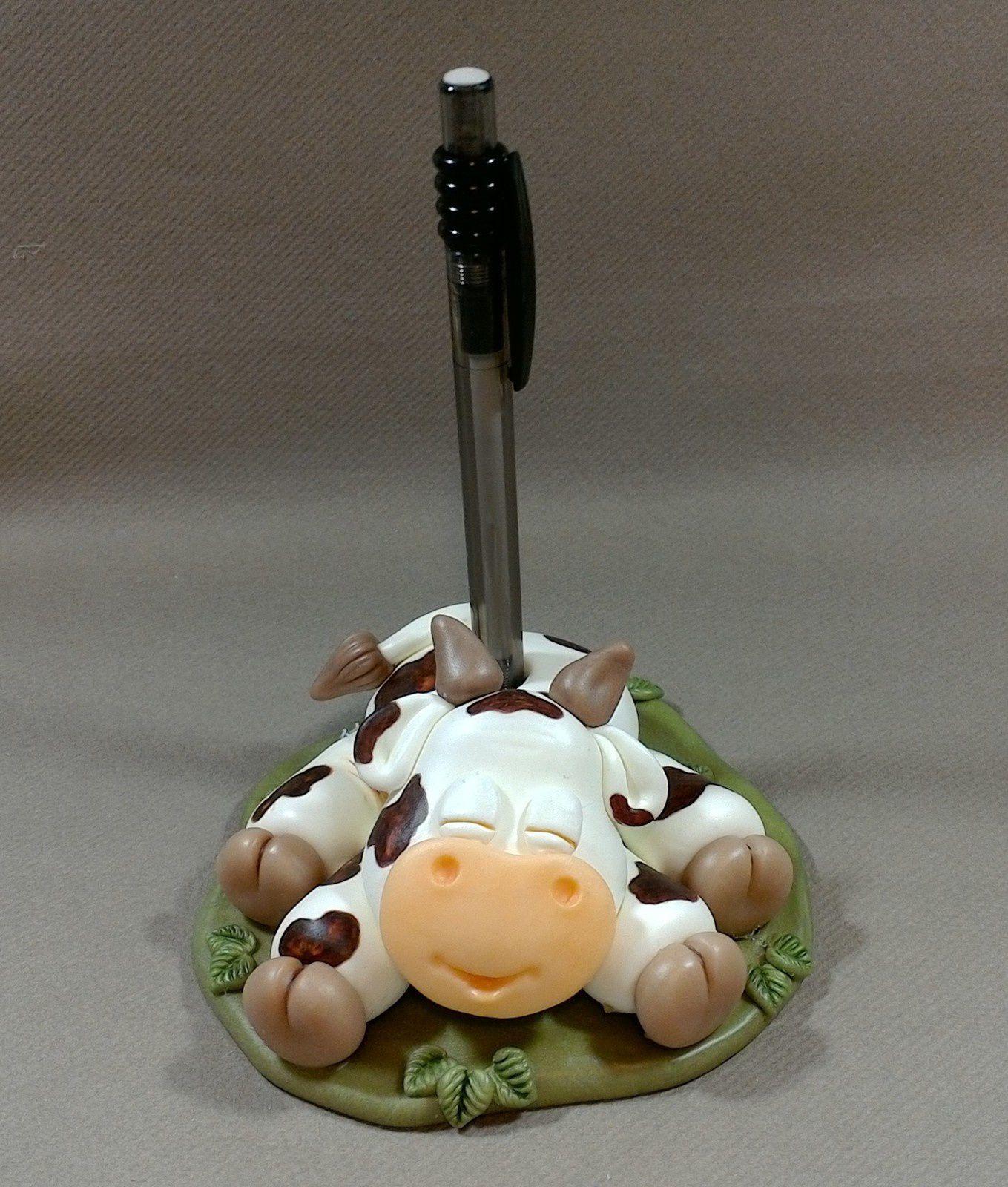 Porte-Bic avec petite vache rigolote