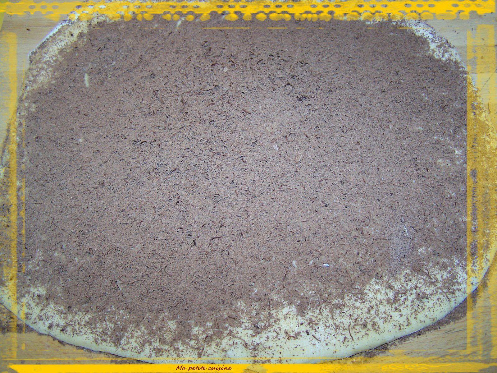 Brioche roulée au chocolat