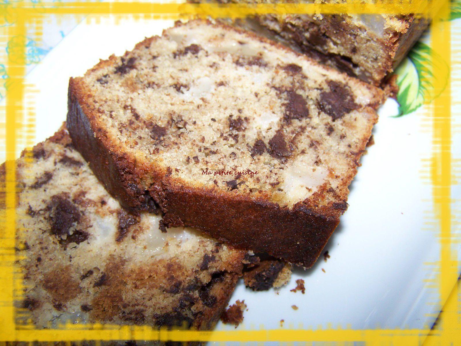 Cake hyper moelleux aux poires et au chocolat