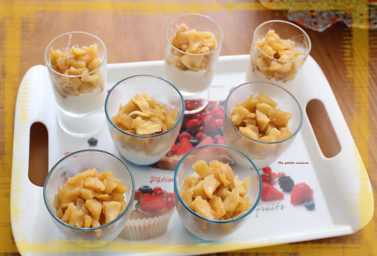Crème au fromage et ses pommes caramélisées