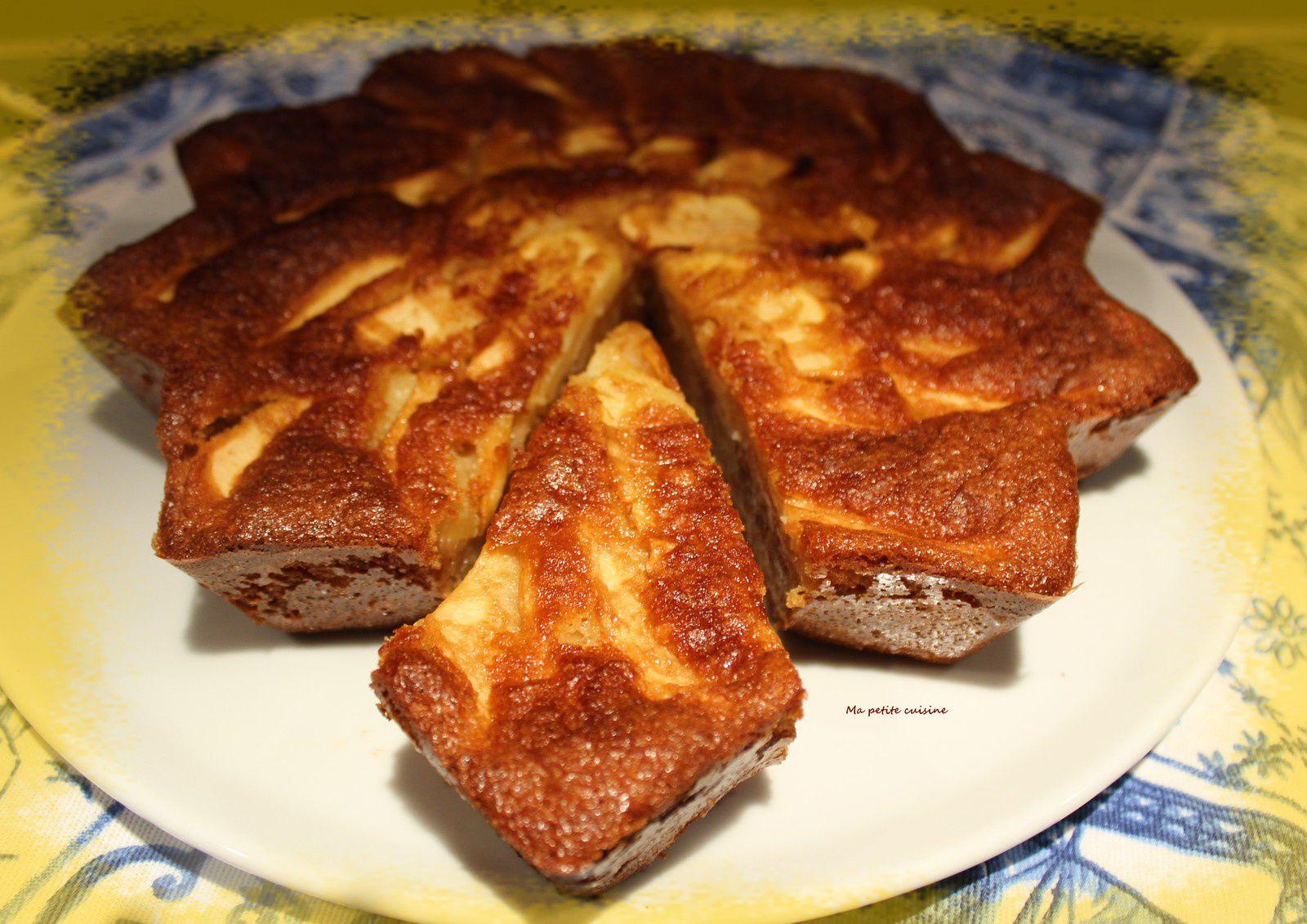 Gâteau aux pommes et caramel au beurre salé