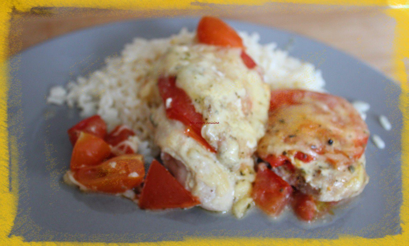 Blanc de poulet à la tomate et mozzarella