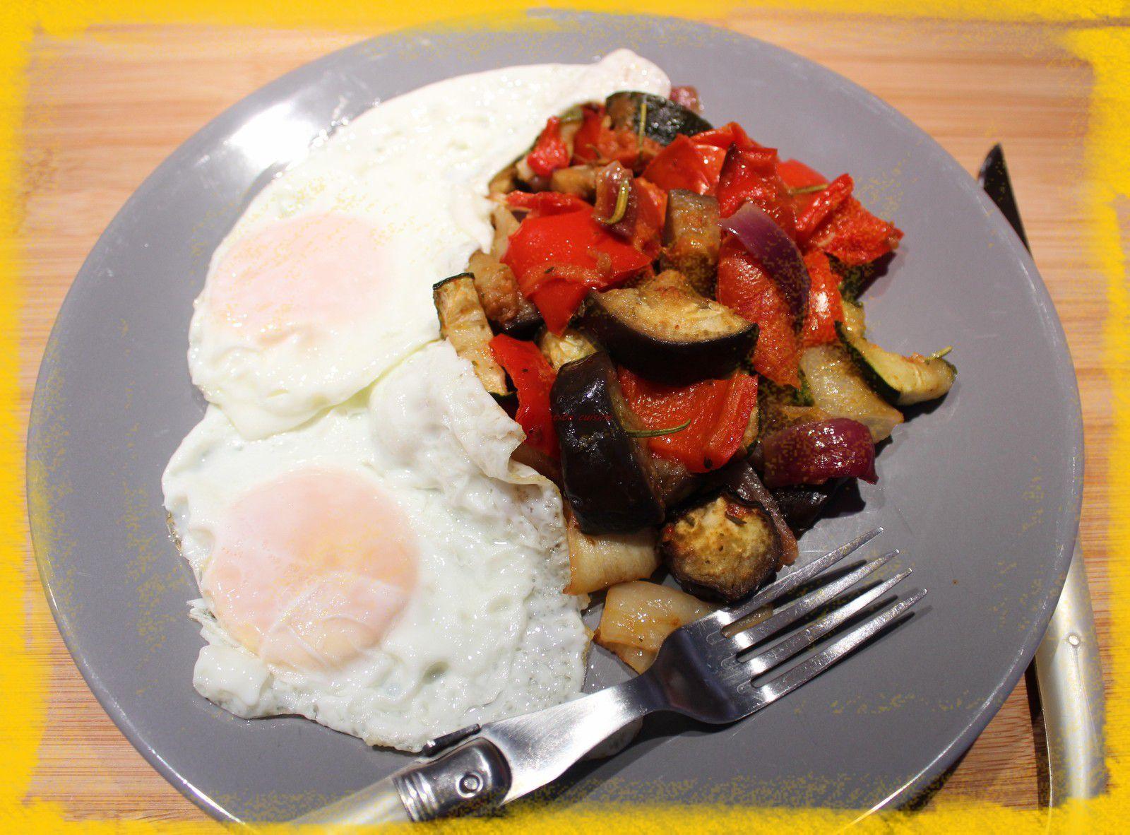 Légumes rotis au four façon ratatouille