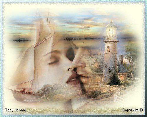 Le coeur entre les doigts Création par Tony richard pour le poème Le soleil et la mer partir. Tous droits réservés