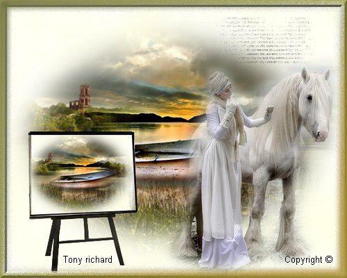 Les couleurs aux lumières d'un coeur Création par Tony richard pour Peinture et poésie. Tous droits réservés