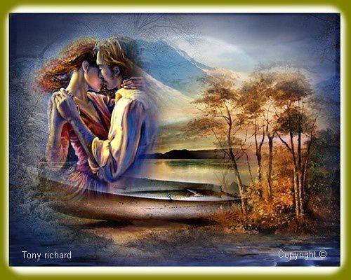 Nouveau chemin nouveau destin Création par Tony richard pour le poème Premier baiser et oublier. Tous droits réservés