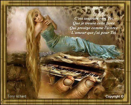 Création Copyright par Tony richard pour le poème L'amour pour toi baignant au fond de moi. Tous droits réservés
