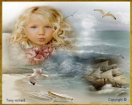 La petite fille aux boucles d'or Création par Tony richard pour le poème La petite fille. Tous droits réservés