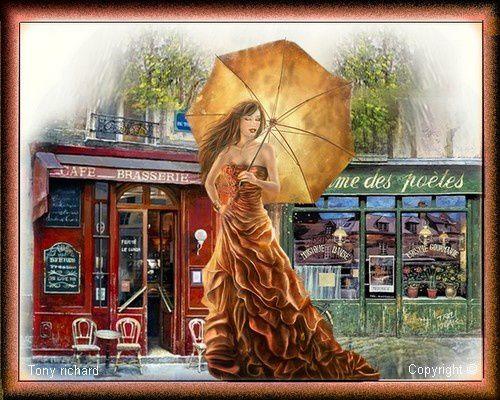 La pluie un jour Création par Tony richard pour Un jour de pluie. Tous droits réservés