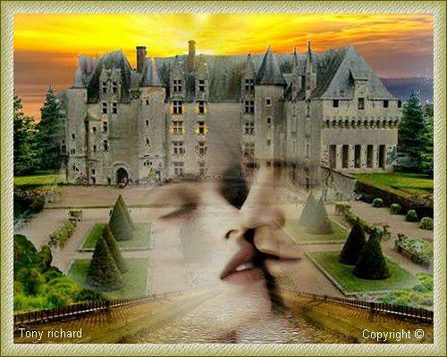 Création Copyright par Tony richard pour le poème Au château du détour. Tous droits réservés