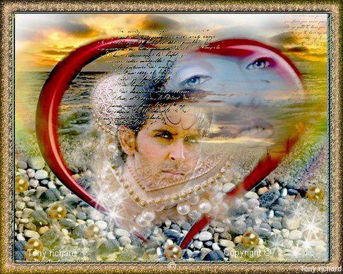Création Copyright par Tony richard pour le poème Le coeur dans un écrin. Tous droits réservés