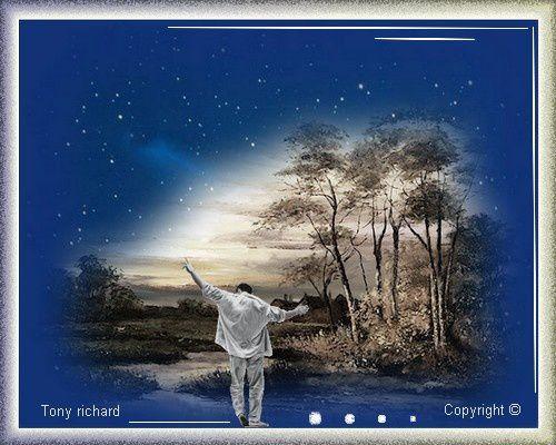 Trop loin d'ici pleurent mes nuits Création par Tony richard pour le poème Les mots du silence. Tous droits réservés