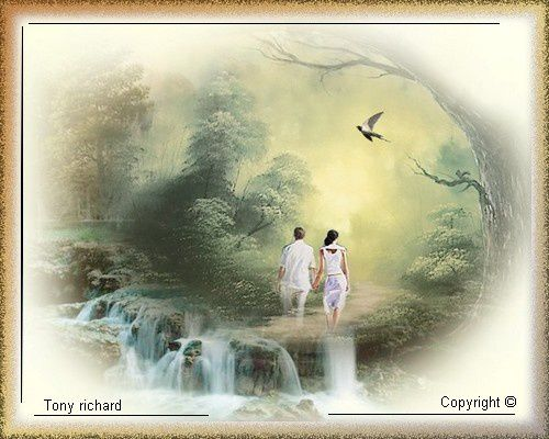 Sans te le dire Création par Tony richard pour L'amitié est un sentier. Tous droits réservés