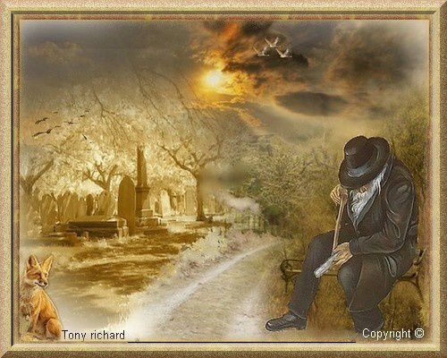 Création Copyright par Tony richard pour le poème Pensées d'automne. Tous droits réservés