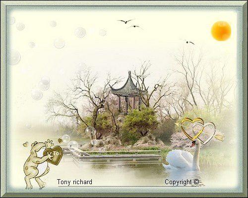 Les mots gravés Amour-Mitié Création par Tony richard pour St Valentin elle a écrit. Tous droits réservés