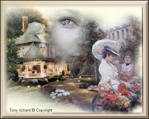 Une petite larme sur la rose qui se fane Création par Tony richard pour Rose perlée. Tous droits réservés