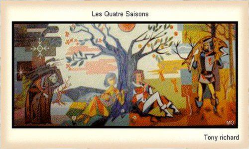 Les quatre saisons tableau réalisé par mon père. Tous droits réservés
