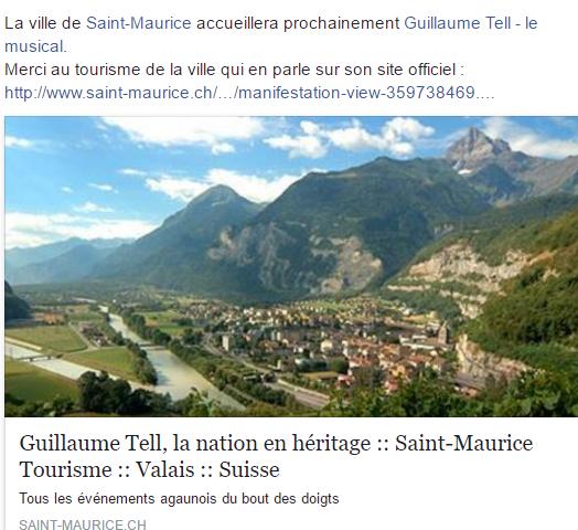 La comédie musicale Guillaume Tell, la nation en héritage est très attendue en Suisse !