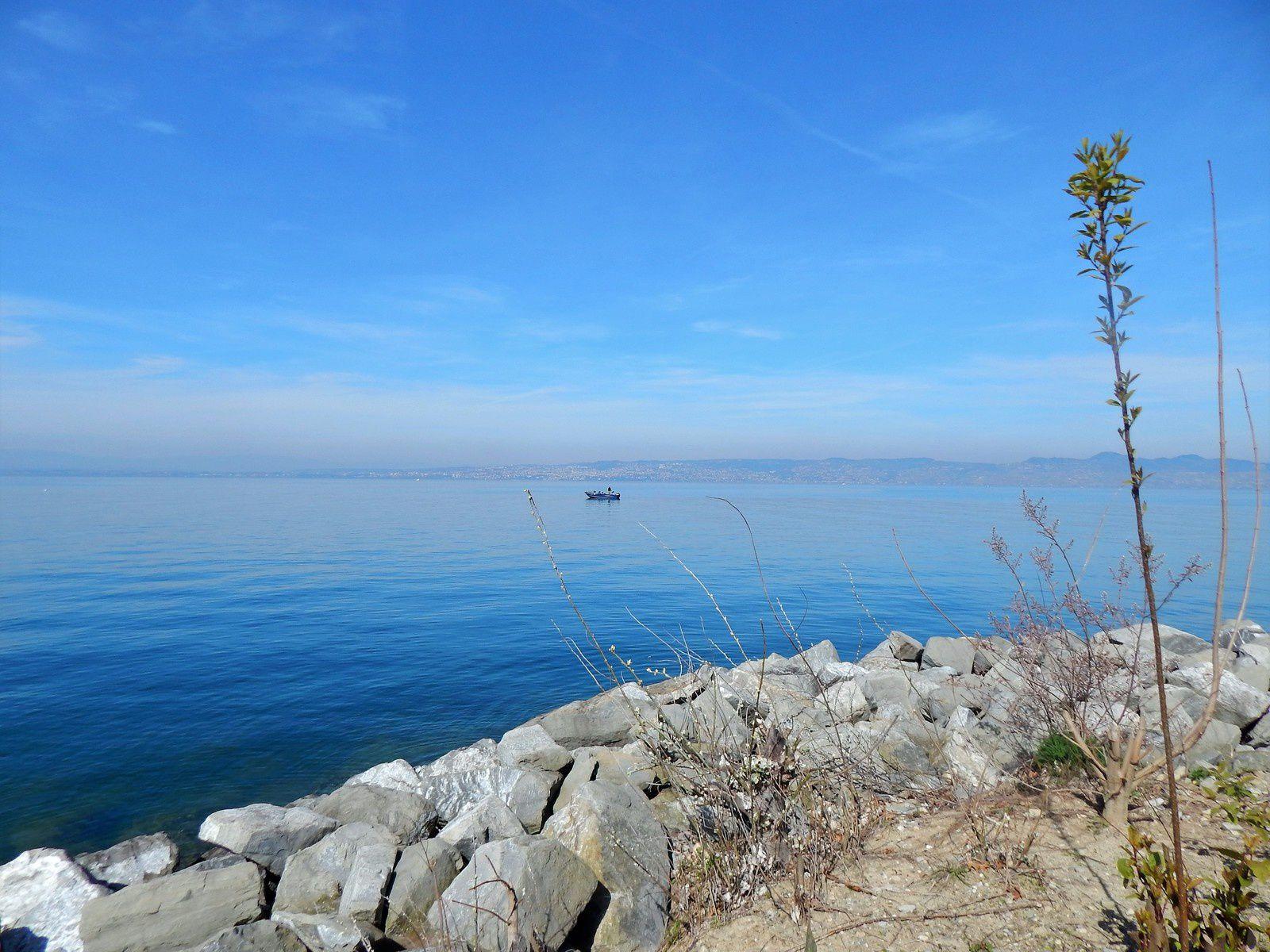 Balade au bord du lac Léman à Evian