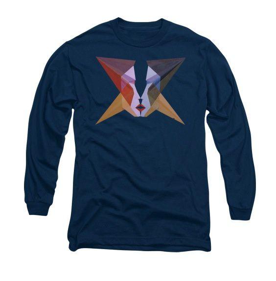 """Tee-Shirt d'art - Visage de """"Amoureux"""", Long Sleeve T-Shirt."""