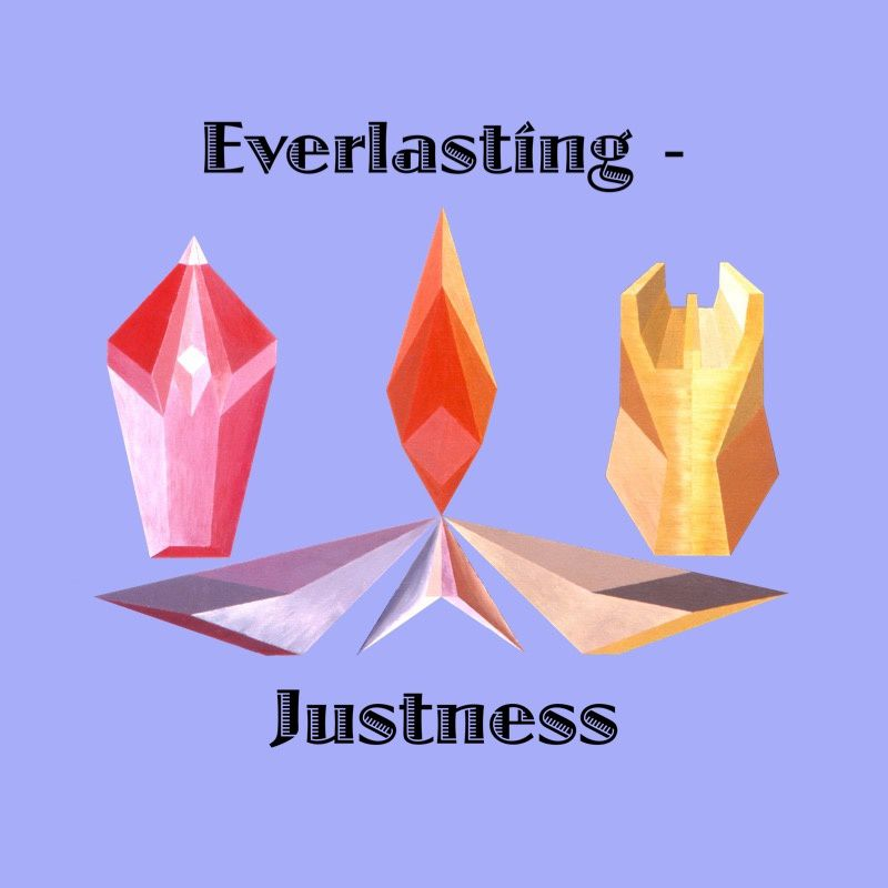 """Everlasting-Justness"" text - Painting ""Infini-Justice"". Panoply."