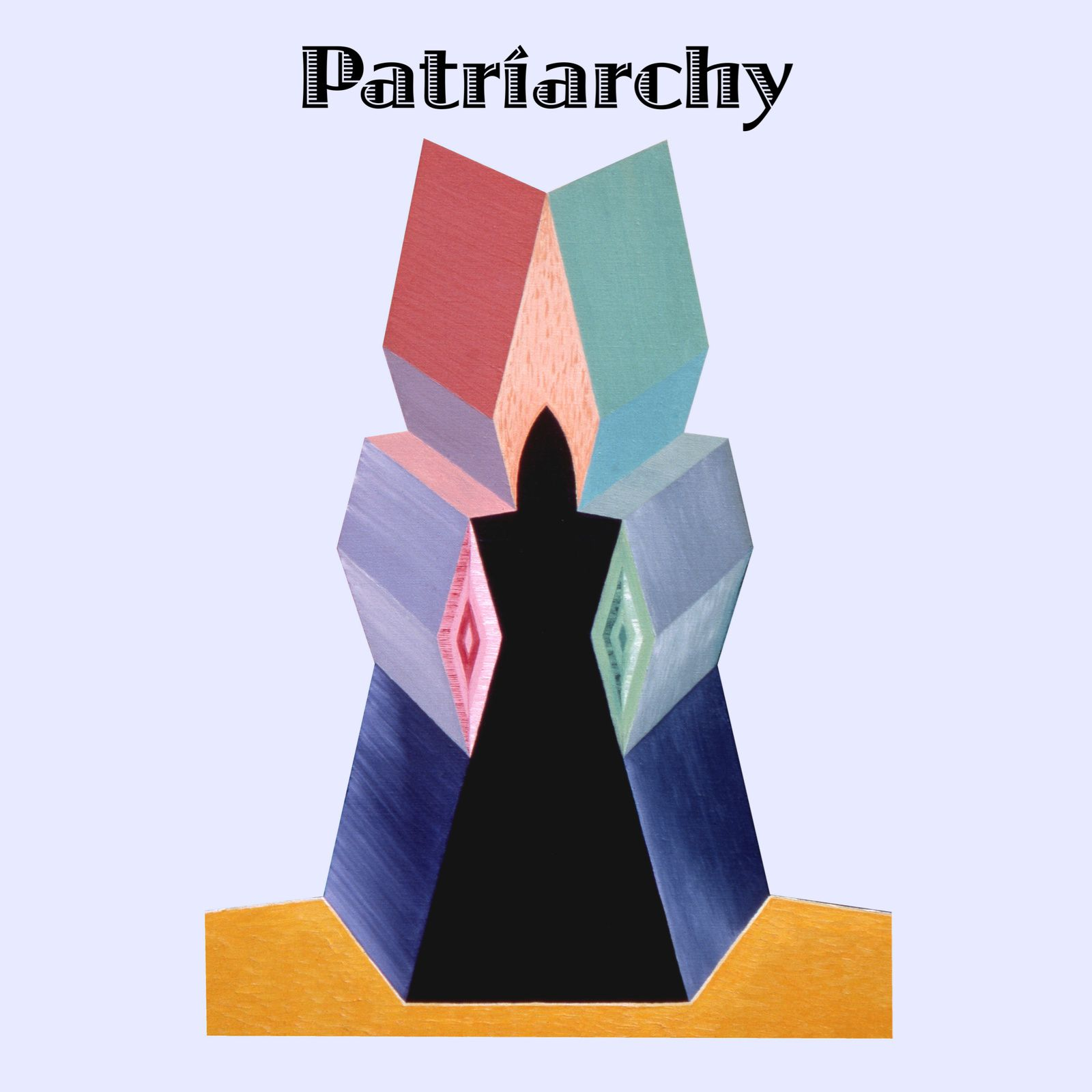 """Art collection-""""Patriarchy"""" text- Extract painting """"Patriarche""""."""