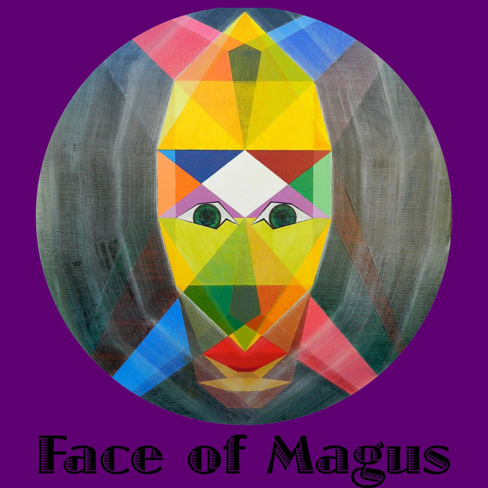 "Art collection-""Face of Magus"" text-Extract painting ""Le Mage""."