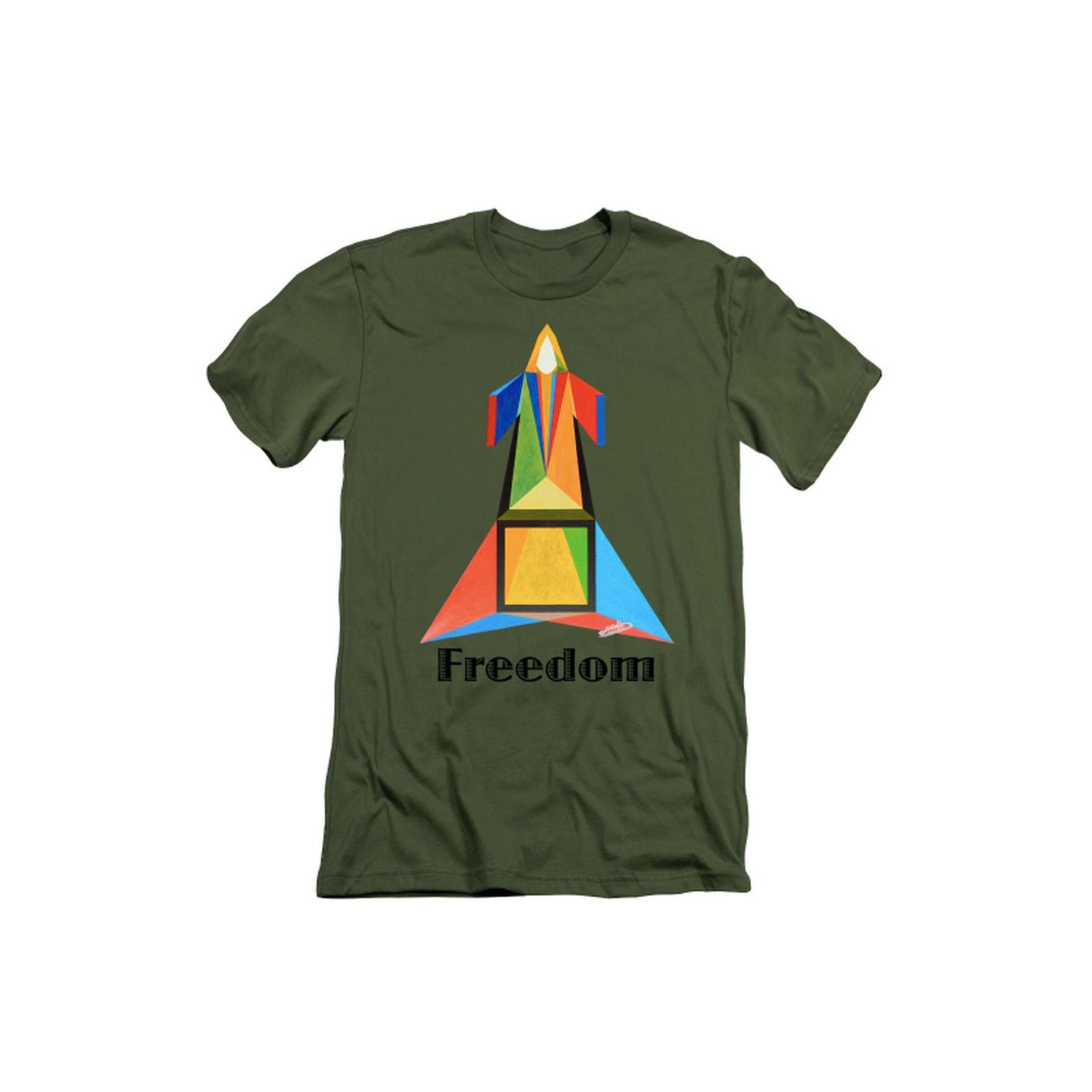 Paradoxical Freedom's Tee-shirt. (Military Green)
