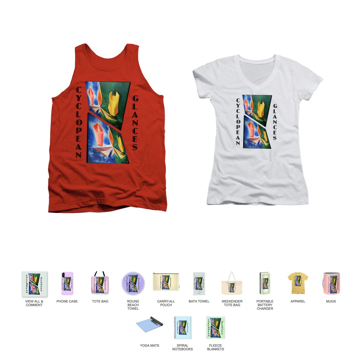 Cyclopean Glances Infinite-Justice Tank Top, Cyclopean Glances Infini-Justice - Womens's V-Neck (Athletic Fit) and all products.