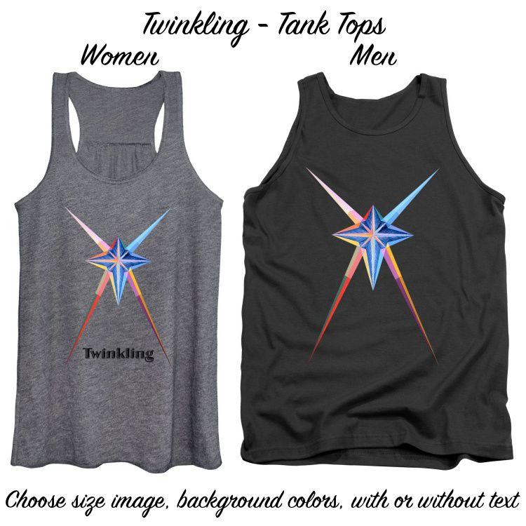 Art Panoply-Twinkling-Tank Tops