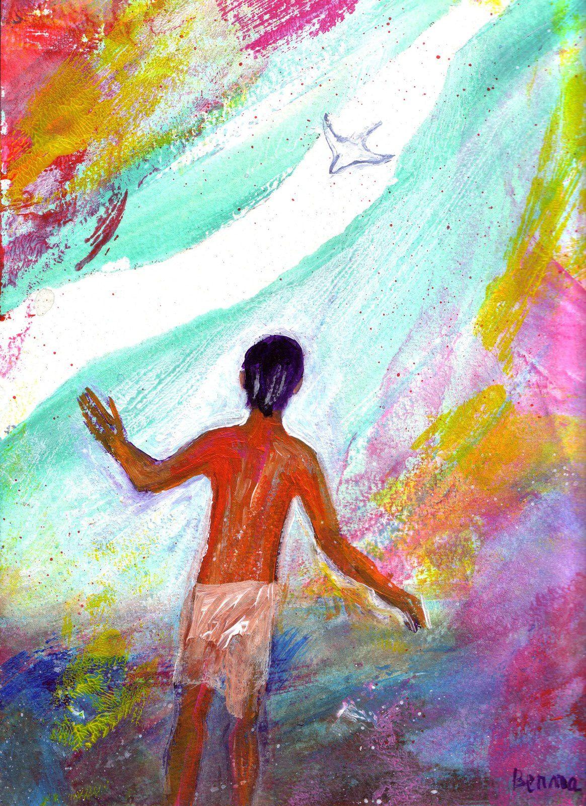 « Voici venir derrière moi celui qui est plus fort que moi ; je ne suis pas digne de m'abaisser pour défaire la courroie de ses sandales. Moi, je vous ai baptisés avec de l'eau ; lui vous baptisera dans l'Esprit Saint. »