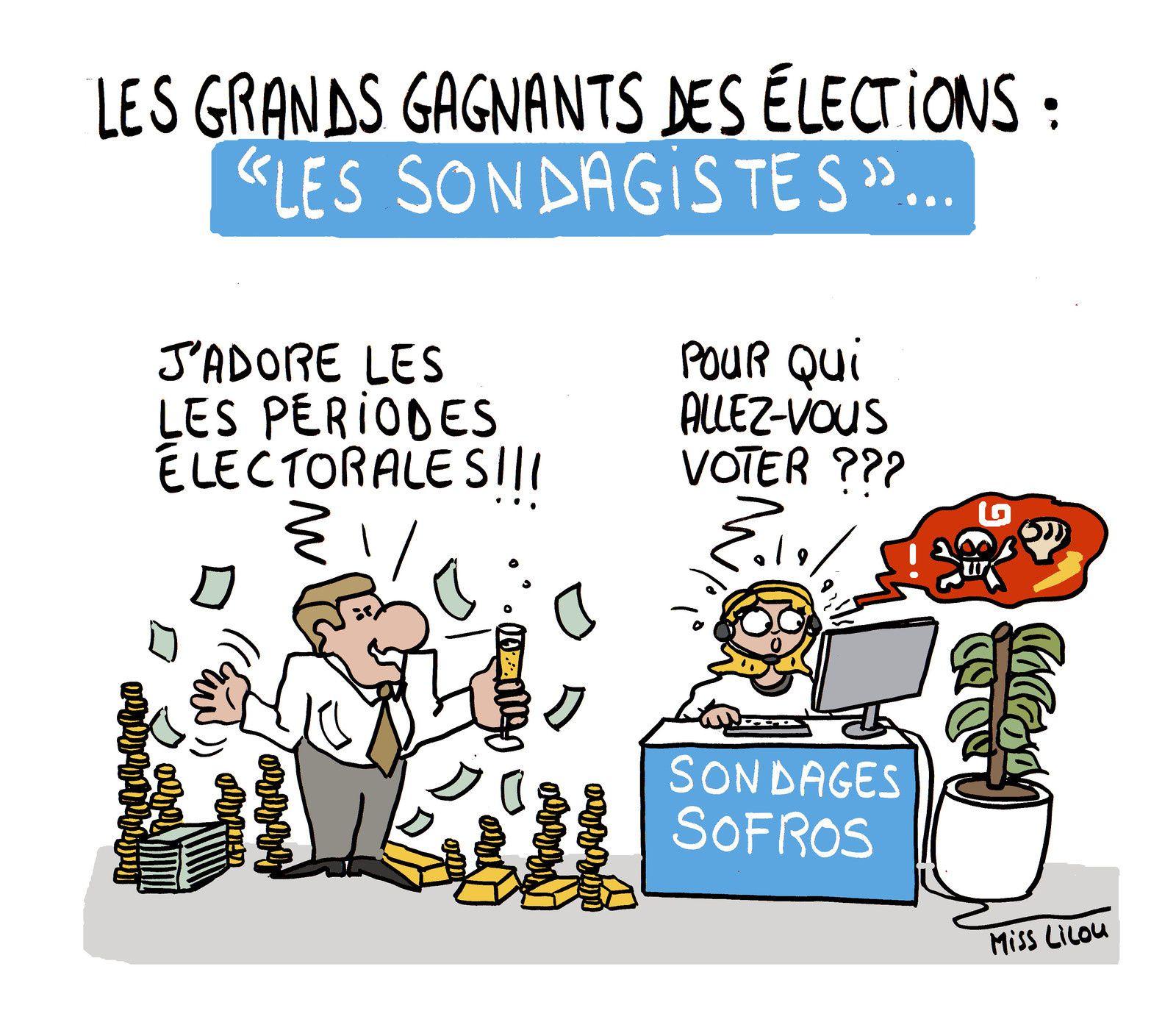 """Les Grands Gagnants des Élections : """"Les Sondagistes""""..."""