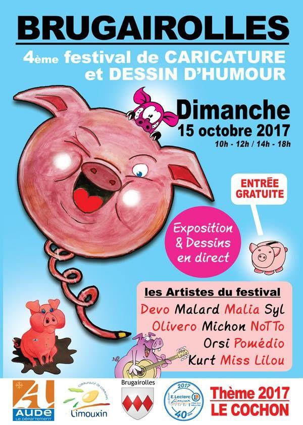 4ème Festival de Caricature et Dessin d'Humour de Brugairolles ( Aude) 2017 !