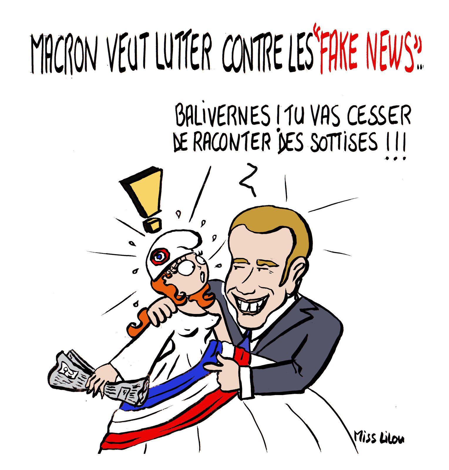 """Macron veut lutter contre les """"Fake News""""..."""