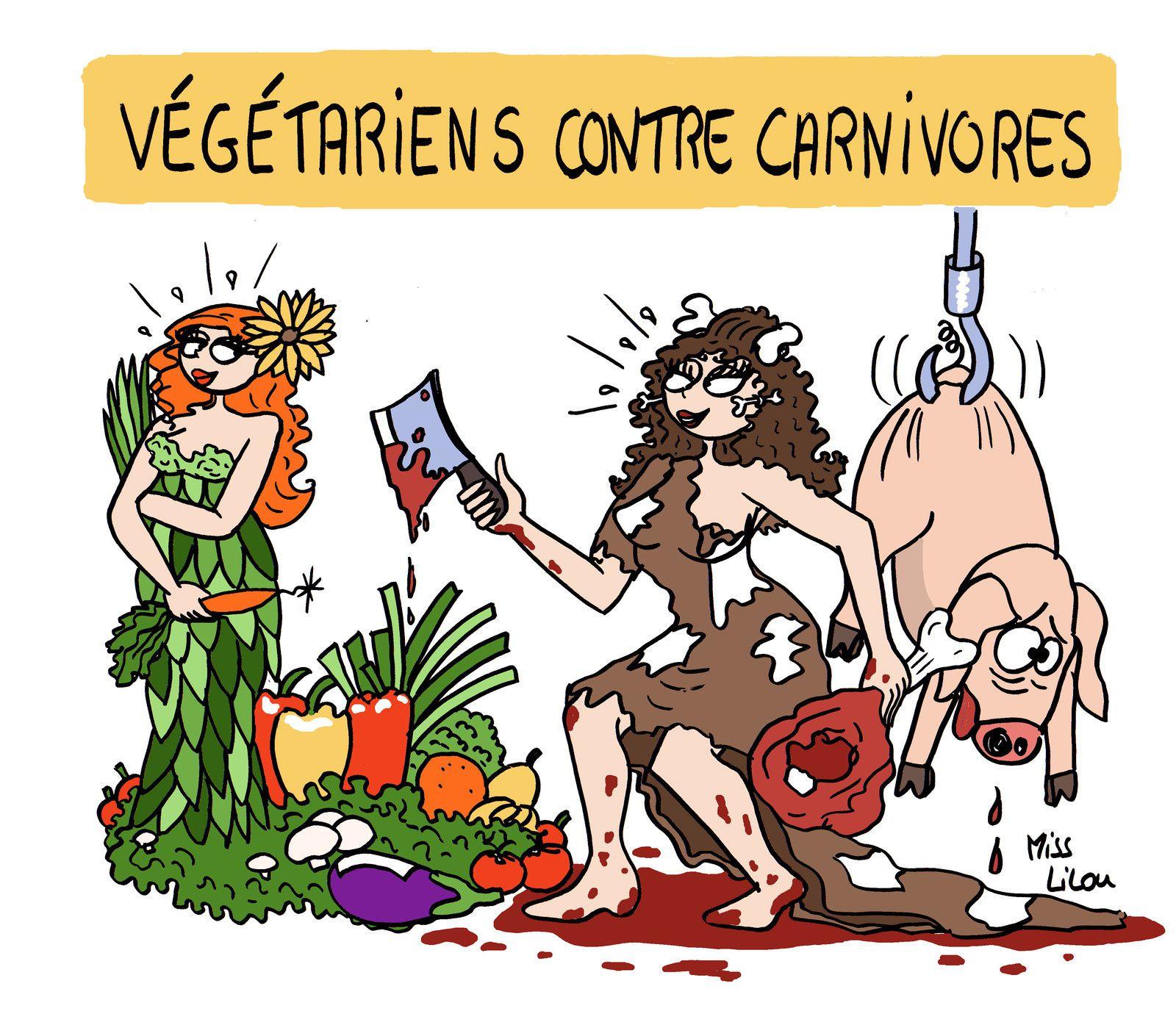 Végétariens contre carnivores...