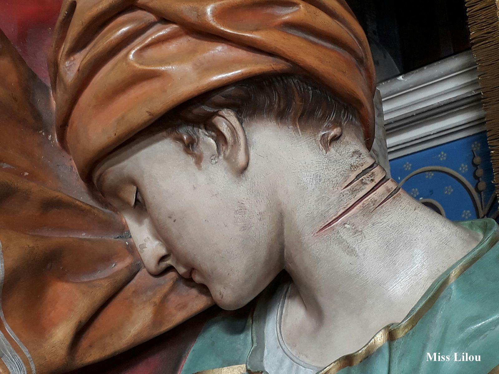 Statue de Sainte-Cécile, détail, Cathédrale Sainte-Cécile, Albi.