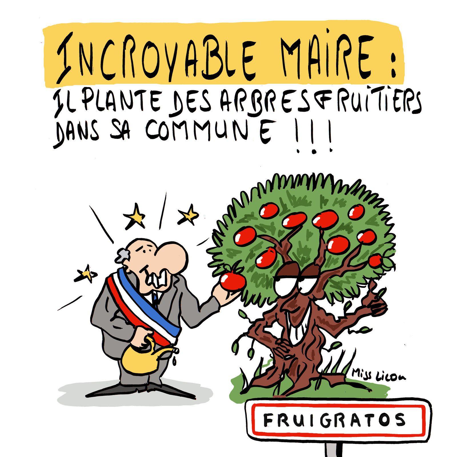 Incroyable Maire : il plante des arbres fruitiers dans sa commune !